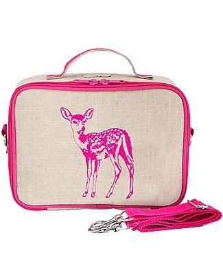 SoYoung Raw Linen Lunch Box, Pink Fawn – Insulated, machine washable! Lunch Boxes