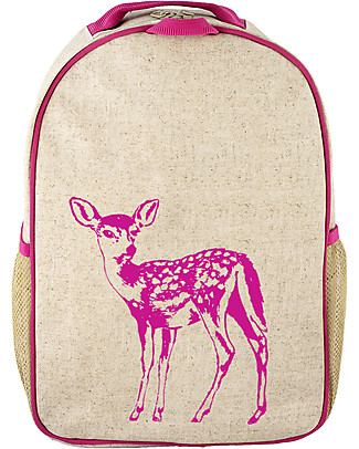 SoYoung Raw Linen Toddler Backpack, Pink Fawn – Machine washable! Small Backpacks