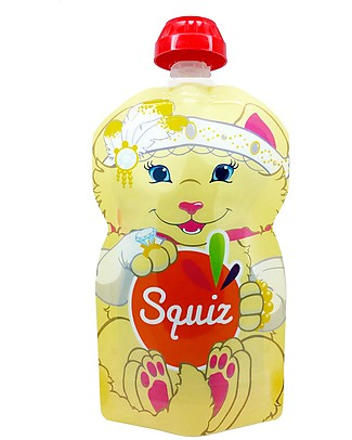 Squiz Eco-friendly Reusable Food Pouch - Kitty Cat - 130 ml Reusable Pouch