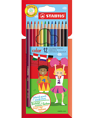 Stabilo Base Crayons - Case of 12, assorted colours Colouring Activities