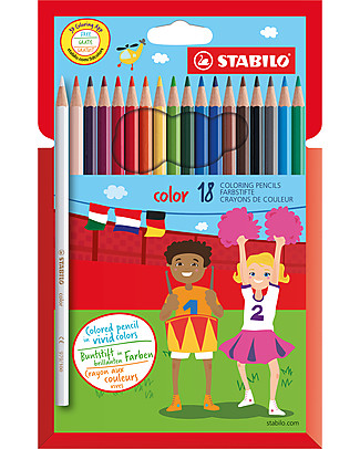Stabilo Base Crayons - Case of 18, assorted colours Colouring Activities