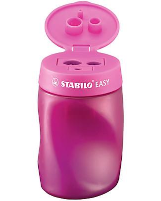 Stabilo Ergonomic Pencil Sharpener Easy 3 in 1 Left- handed - pink Colouring Activities
