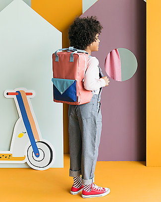 Sticky Lemon Backpack Envelope Large, Rusty red/Denim blue/Ink blue - 28x38 cm Large Backpacks
