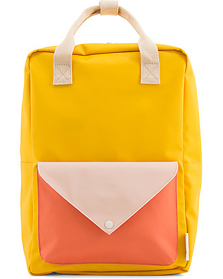 Sticky Lemon Backpack Envelope Large, Warm yellow/Soft pink/Sporty Red - 28x38 cm Large Backpacks