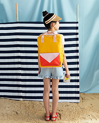 Sticky Lemon Backpack Envelope Large, Warm yellow/Soft pink/Sporty Red - 28x38 cm null