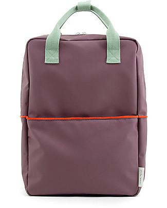 Sticky Lemon Teddy Backpack Large, Eggplant/Sage Green/Sporty Red - 27x38 cm Large Backpacks