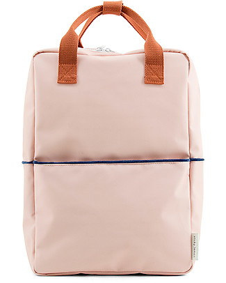 Sticky Lemon Teddy Backpack Large, Soft Pink/Rusty Red/Dark Blue  - 27x38 cm Large Backpacks