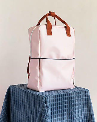 Sticky Lemon Teddy Backpack Large, Soft Pink/Rusty Red/Dark Blue  - 27x38 cm null