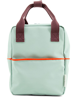 Sticky Lemon Teddy Backpack Small, Eggplant/Sage Green/Sporty Red - Perfect for pre-schoolers! Large Backpacks