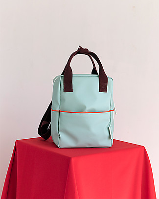 Sticky Lemon Teddy Backpack Small, Eggplant/Sage Green/Sporty Red - Perfect for pre-schoolers! null