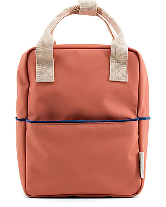 Sticky Lemon Teddy Backpack Small, Rusty Red/Soft Pink/Dark Blue  - Perfect for pre-schoolers! Large Backpacks