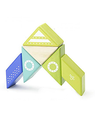 Tegu Spaceshit Travel Pal, Magnetic Wooden Blocks - Eco-Friendly and Safe! Wooden Blocks & Construction Sets