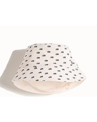 The Bonnie Mob Albi Reversible Sun Hat, Tiny Waves - Organic Cotton Sunhats