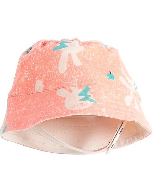 The Bonnie Mob Bowen Reversible Sun Hat, Neon Bunny - Organic Cotton Sunhats