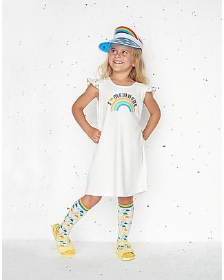 The Bonnie Mob Delaunay Frills Dress, Somewhere (2-5 years) - Organic cotton Dresses