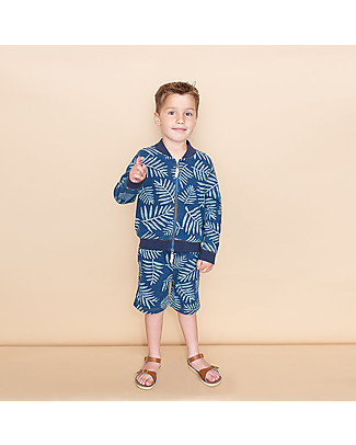 The Bonnie Mob Hawaii Stretch Denim Shorts for kids, Palm - 100% cotton Shorts