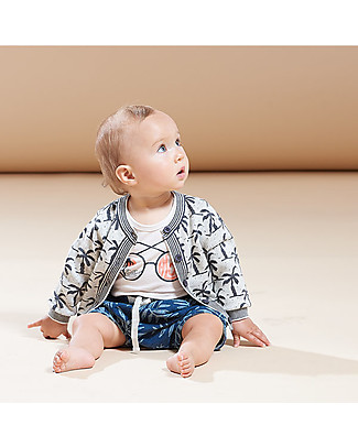 The Bonnie Mob Hip Stretch Denim Shorts for Babies, Palm - 100% cotton Shorts
