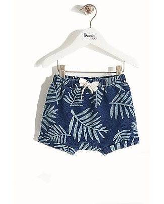The Bonnie Mob Hip Stretch Denim Shorts for Babies, Palm - 100% cotton Shorts