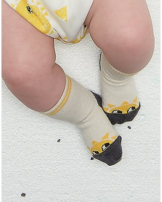 The Bonnie Mob Kelly Sunshine Short Socks, Putty (6-24 months) - Cotton Socks