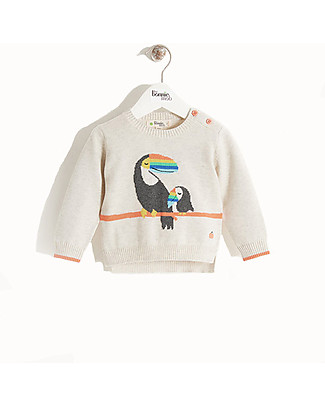 The Bonnie Mob Noe long sleeve Sweater, Toucan (2-7 years) - 100% organic cotton Jumpers