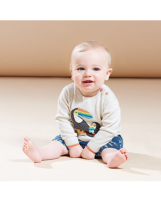 The Bonnie Mob Noe long sleeve Sweater, Toucan (6-24 months) - 100% organic cotton Jumpers