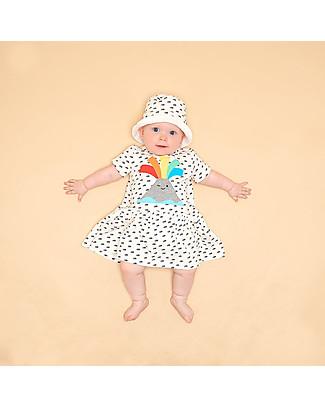 The Bonnie Mob Paige Short Sleeve Dress, Volcano - Organic cotton Dresses