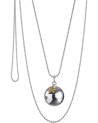 The Good Karma Mexican Bola Baby Moon Gold Star – Nickel-free Necklaces