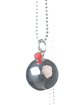 The Good Karma Mexican Bola Baby Pearl, Coral - The stone of sirens Necklaces