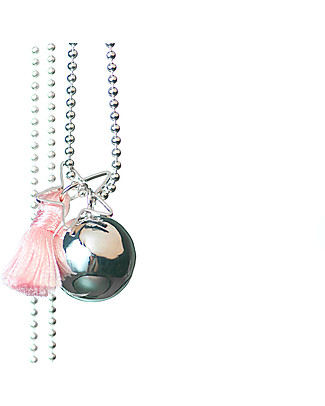 The Good Karma Mexican Bola Gypsy Mamma, Baby Pink - With star and pompom! Necklaces