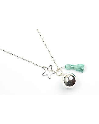 The Good Karma Mexican Bola Gypsy Mamma, Turquoise - With star and pompom! Necklaces