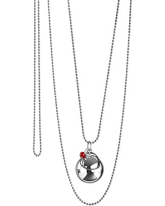 The Good Karma Mexican Bola Mamma Love, Red Coral - The stone of sirens Necklaces