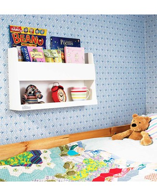 Tidy Books Bunk / Baby Buddy - White - Storage for your Bunk Bed or Nursery! Bookcases