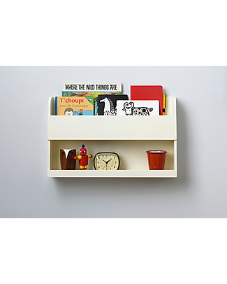 Tidy Books Bunk Bed Buddy Bedside Storage Shelf - 33x53x12cm - Soft white Bookcases