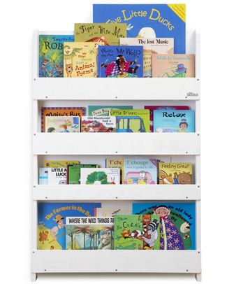 Tidy Books Children's Front Facing Bookcase - White Bookcases