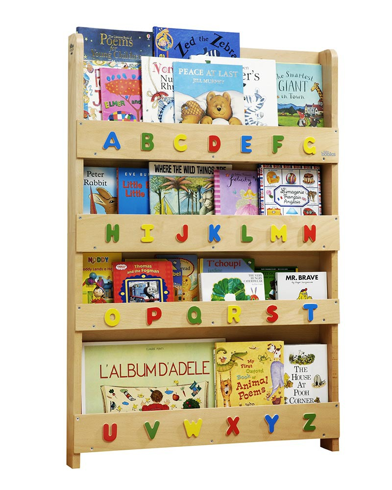 Tidy Books Children's Front Facing Bookcase with 3D Alphabet ...