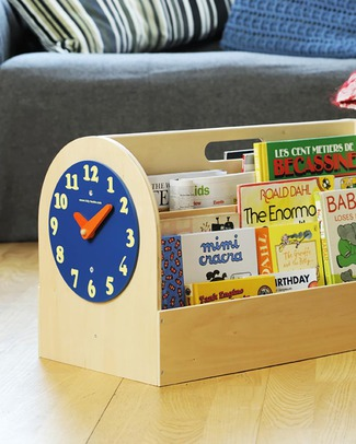 Tidy Books Front facing Book Box - 34x54x28 cm - Natural Bookcases
