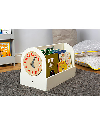 Tidy Books Front facing Book Box - 34x54x28 cm - Soft white Bookcases