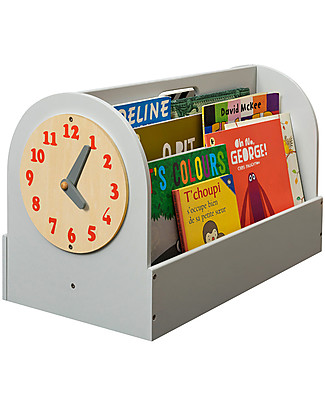 Tidy Books Front facing Book Box - 34x54x28cm - Light Grey Bookcases