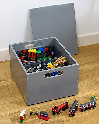 Tidy Books Sorting Box, Toys Wooden Box, Dark Grey - 40 x 30 x 24 cm Toy Storage Boxes