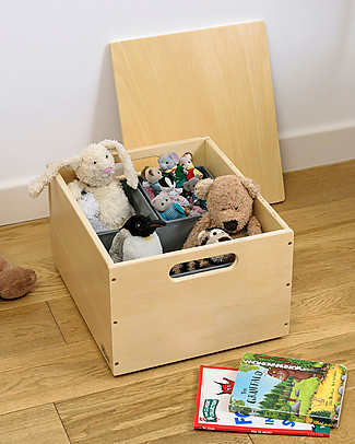 Tidy Books Sorting Box, Toys Wooden Box, Natural - 40 x 30 x 24 cm Toy Storage Boxes