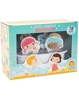 Tiger Tribe Bath Stories, Once Upon a Mermaid - 18 figures for tub-play! Bath Toys