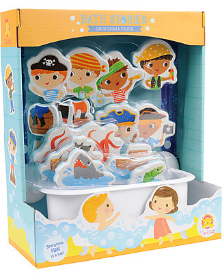 Tiger Tribe Bath Stories, Once Upon a Pirate - 18 figures for tub-play! Creative Toys