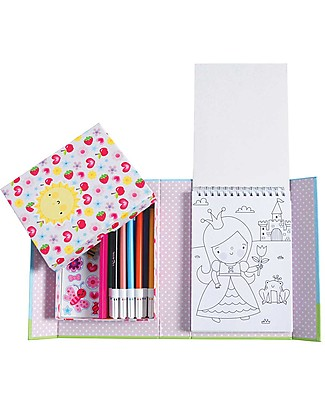 Tiger Tribe Colouring Set, Big and Bold - Includes booklet, markers and stickers! Colouring Activities