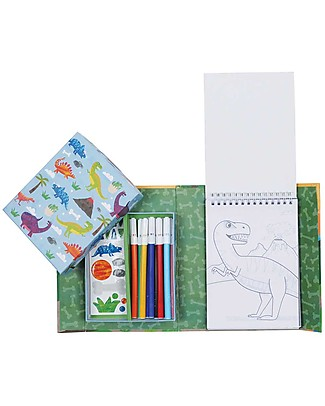 Tiger Tribe Colouring Set, Dinosaurs - Includes booklet, markers and stickers! Colouring Activities