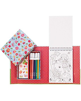 Tiger Tribe Colouring Set, Forest Fairies - Includes booklet, markers and stickers! Colouring Activities
