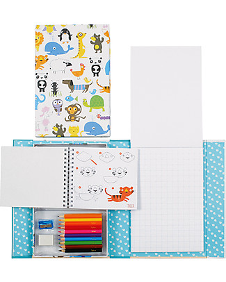 Tiger Tribe How to Draw Set, Animals - Includes booklets, pencils, sharpener and eraser! Colouring Activities