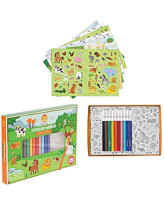 Tiger Tribe Set 200 Coloured and To Colour Stickers, Animals - Great on Holiday! Stickers & Stamps Sets