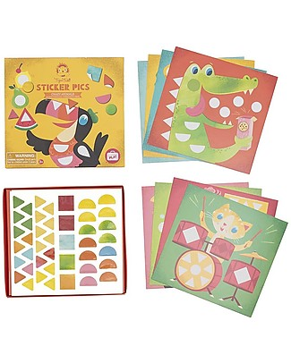 Tiger Tribe Sticker Pics Activity Set, Crazy Animals - A complete set to create the funniest animals! Creative Toys