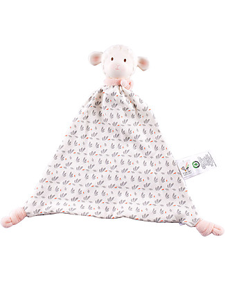Tikiri DouDou Lamb Lila, Pink - Natural Rubber and Organic Cotton Doudou & Comforters
