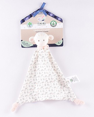 Tikiri DouDou Lamb Lila, Pink - Natural Rubber and Organic Cotton Doudou & Comforters